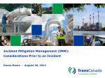 Incident Mitigation Management (IMM): Considerations Prior to an Incident