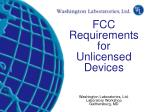 Regulatory Requirements for Wireless Systems