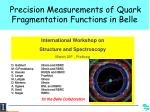 Precision Measurements of Quark Fragmentation Functions in Belle