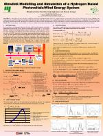 Simulink Modelling and Simulation of a Hydrogen Based Photovoltaic/Wind Energy System