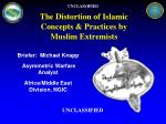 The Distortion of Islamic Concepts & Practices by Muslim Extremists