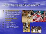 What strategies do we cover?