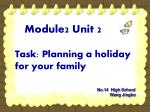 Task: Planning a holiday for your family