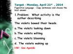 Target - Monday, April 21 st , 2014