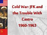 Cold War: JFK and the Trouble With Castro 1960-1963