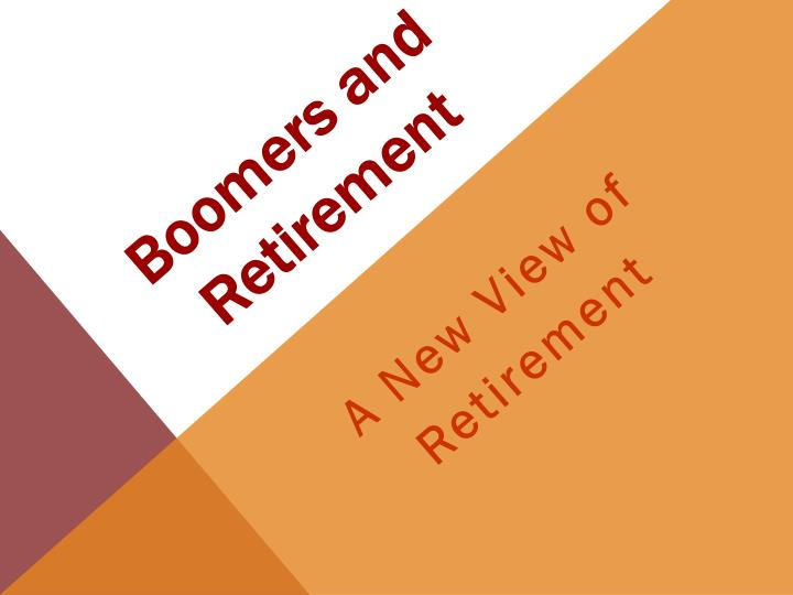 boomers and retirement n.