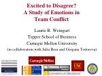 Excited to Disagree? A Study of Emotions in Team Conflict