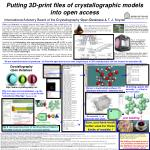 Putting 3D-print files of crystallographic models into open access