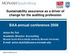 Sustainability assurance as a driver of change for the auditing profession