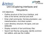 Unit 3:Exploring interfaces and filesystems