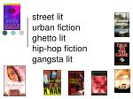 street lit urban fiction ghetto lit hip-hop fiction gangsta lit