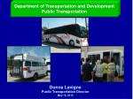 Department of Transportation and Development Public Transportation