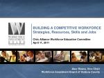 BUILDING A COMPETITIVE WORKFORCE Strategies, Resources, Skills and Jobs