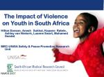 The Impact of Violence on Youth in South Africa