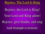 Rejoice, The Lord Is King