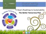 Sodexo's Roadmap to Sustainability The Better Tomorrow Plan