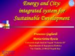 Energy and City:  integrated system for Sustainable Development