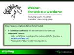Webinar: The Web as a Workhorse