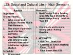 L23: Social and Cultural Life in Nazi Germany