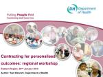 Contracting for personalised outcomes