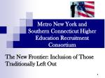Metro New York and Southern Connecticut Higher Education Recruitment Consortium