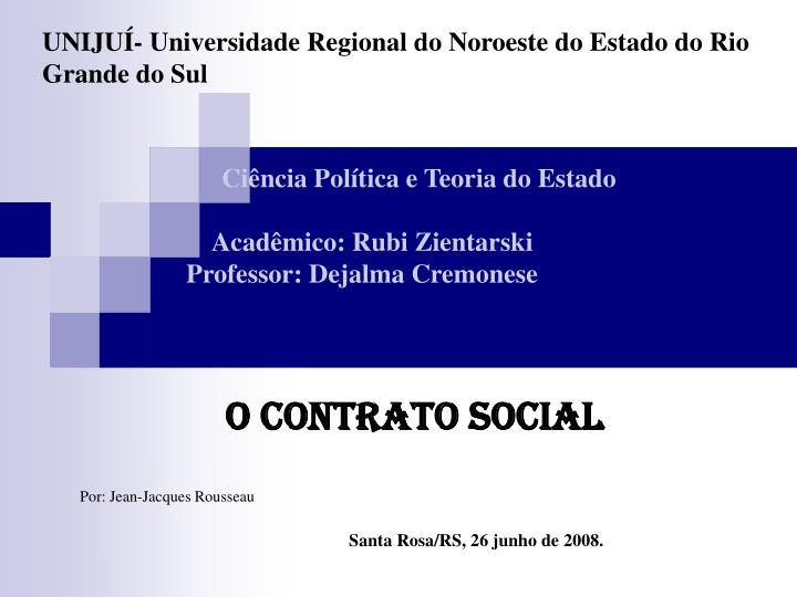 uniju universidade regional do noroeste do estado do rio grande do sul n.