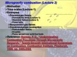Microgravity combustion (Lecture 3)
