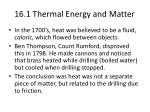 16.1 Thermal Energy and Matter