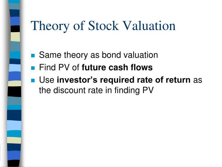 theory of stock valuation n.