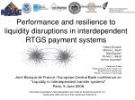 Performance and resilience to liquidity disruptions in interdependent RTGS payment systems