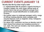 CURRENT EVENTS JANUARY 18