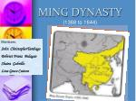 MING DYNASTY (1368 to 1644)