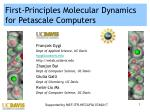 First-Principles Molecular Dynamics for Petascale Computers