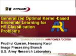 Generalized Optimal Kernel-based Ensemble Learning for HS Classification Problems