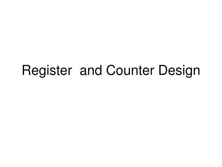 register and counter design n.