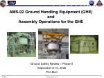AMS-02 Ground Handling Equipment (GHE) and Assembly Operations for the GHE