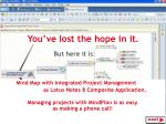 Mind Map with integrated Project Management