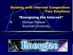 Dealing with Internet Congestion: Two Solutions