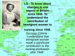 Why did women from the former British Colonies come to Britain?