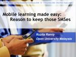 Mobile learning made easy: