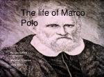 The life of Marco Polo