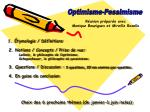 Optimisme-Pessimisme