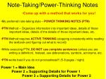 Note-Taking/Power-Thinking Notes