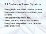 3.1 Systems of Linear Equations