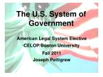 The U.S. System of Government