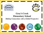Gray's Creek Elementary School Making Connections with a Global Perspective