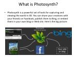 What is Photosynth?