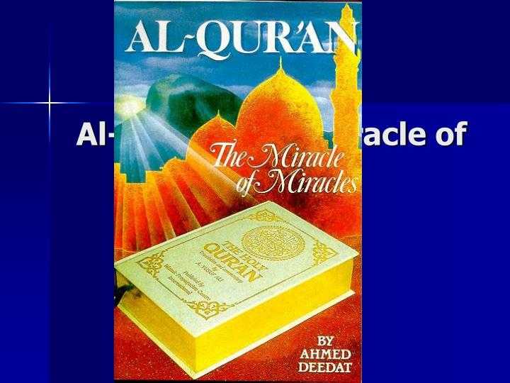 al qur an the miracle of miracles n.