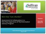 """More than """"Just a Number"""": Assessment & Collaboration in a"""
