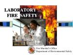 LABOR ATORY . FIRE   SAFETY